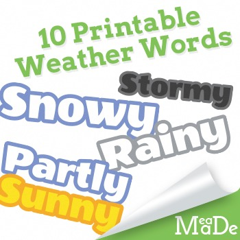 Weather words clipart picture royalty free library Cloud Clipart - Weather and Words picture royalty free library