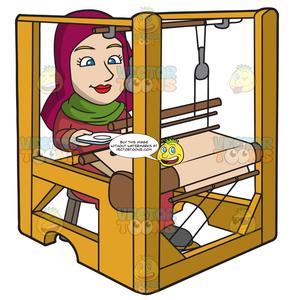 Weaving clipart clip transparent download A Saxon Woman Weaving A Cloth clip transparent download