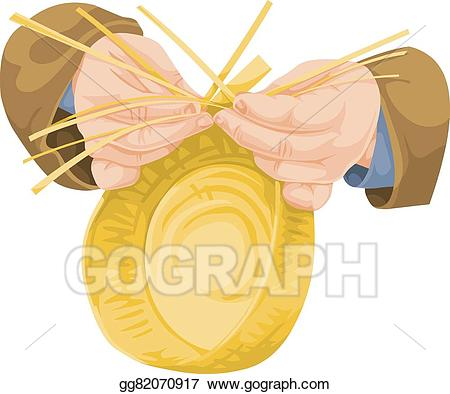 Weaving clipart free library Vector Clipart - Vector of hand weaving wicker. Vector ... free library