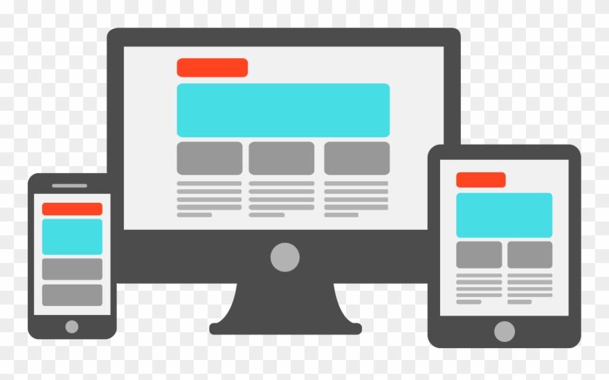 Website clipart vector free download Responsive Website Design - Mobile Screen Size Desktop ... vector free download