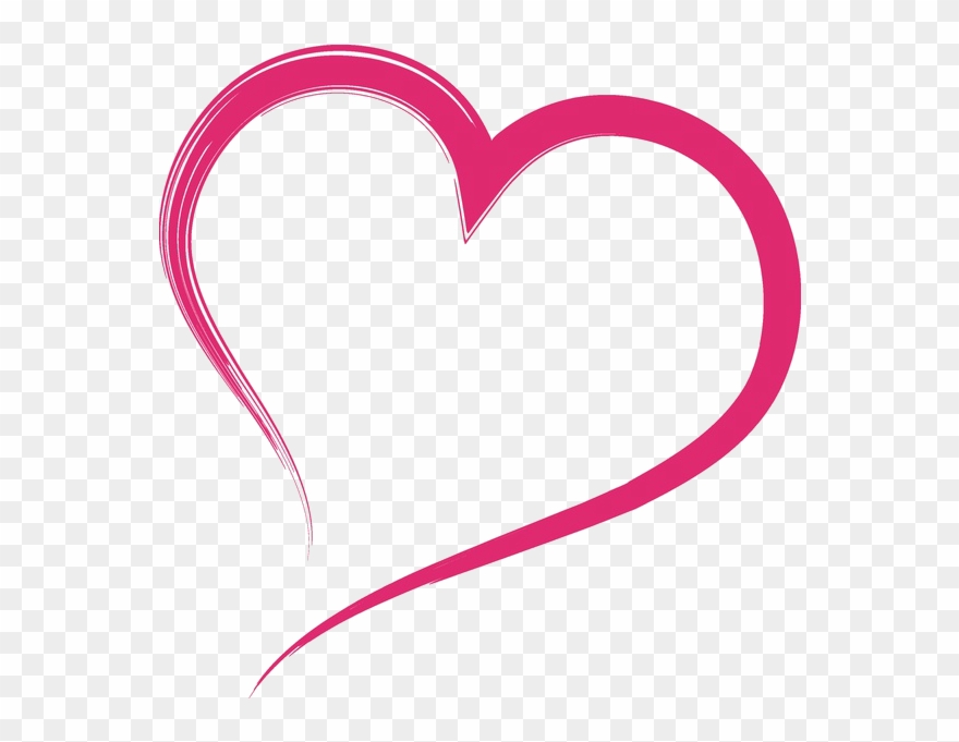 Website contact outline clipart clipart freeuse library Welcome To My Website - Pink Heart Outline Clipart - Png ... clipart freeuse library