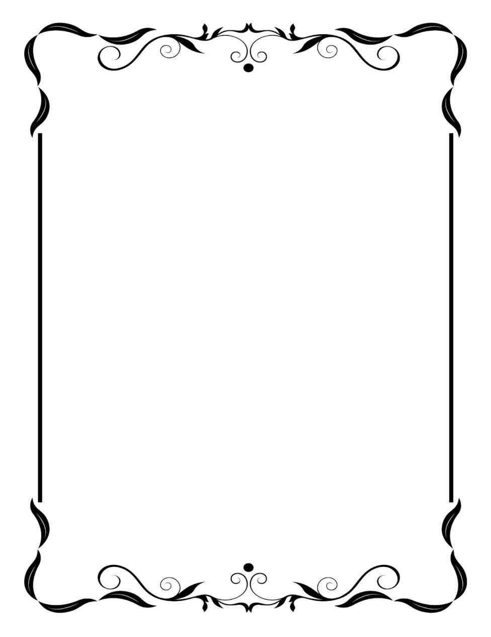 Website frame clipart vector library stock New Post-christmas border clipart black and white ... vector library stock