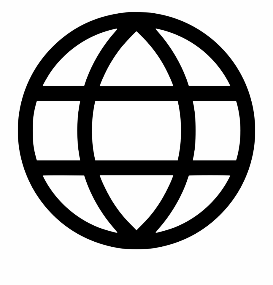 Website icon clipart white banner freeuse library Interface Icons Earth Web Online Comments - Globe World Png ... banner freeuse library