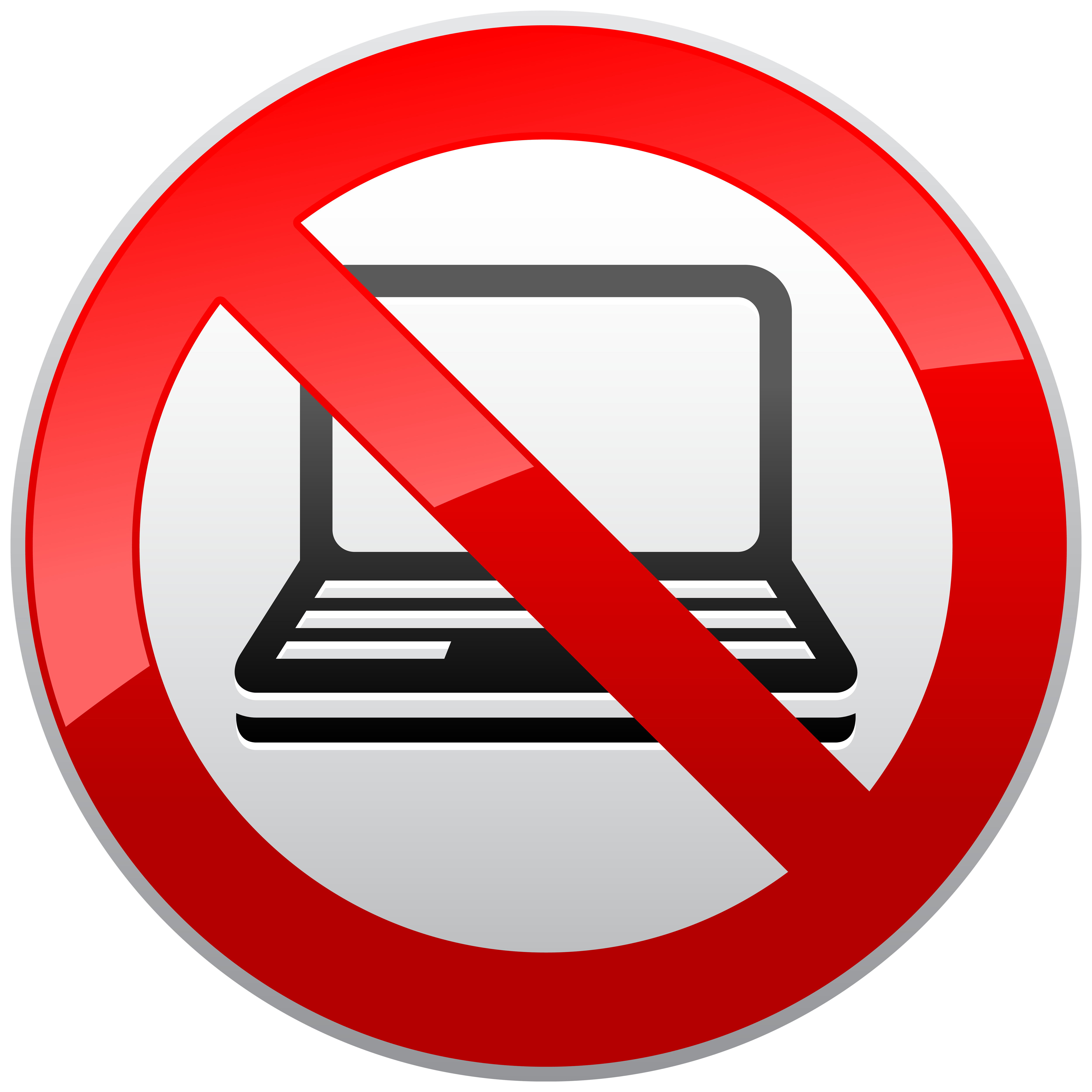 No sign sun clipart png freeuse No Laptop Prohibition Sign PNG Clipart - Best WEB Clipart png freeuse