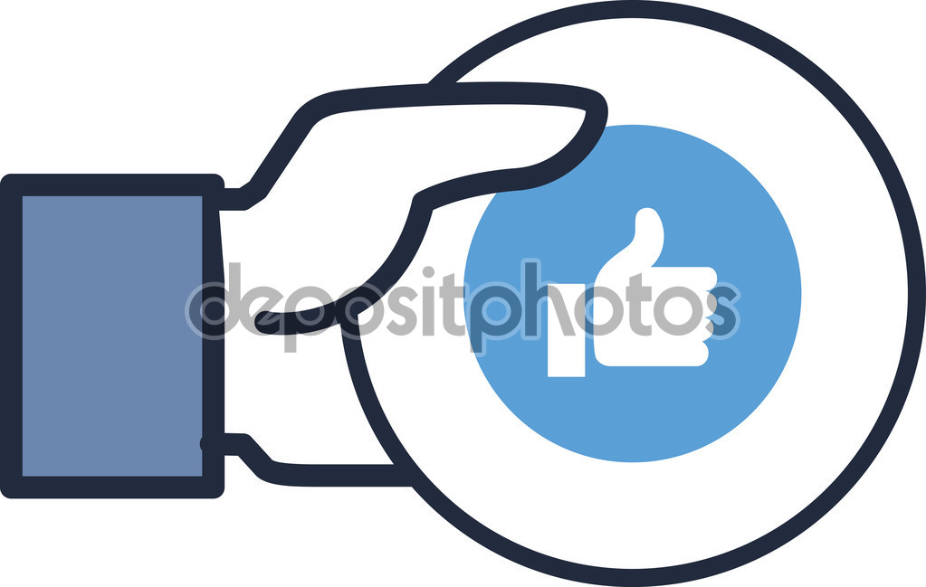 Websites like clip art free library Concept vector- glossy, stylish social media like hand icon(Symbol ... free library