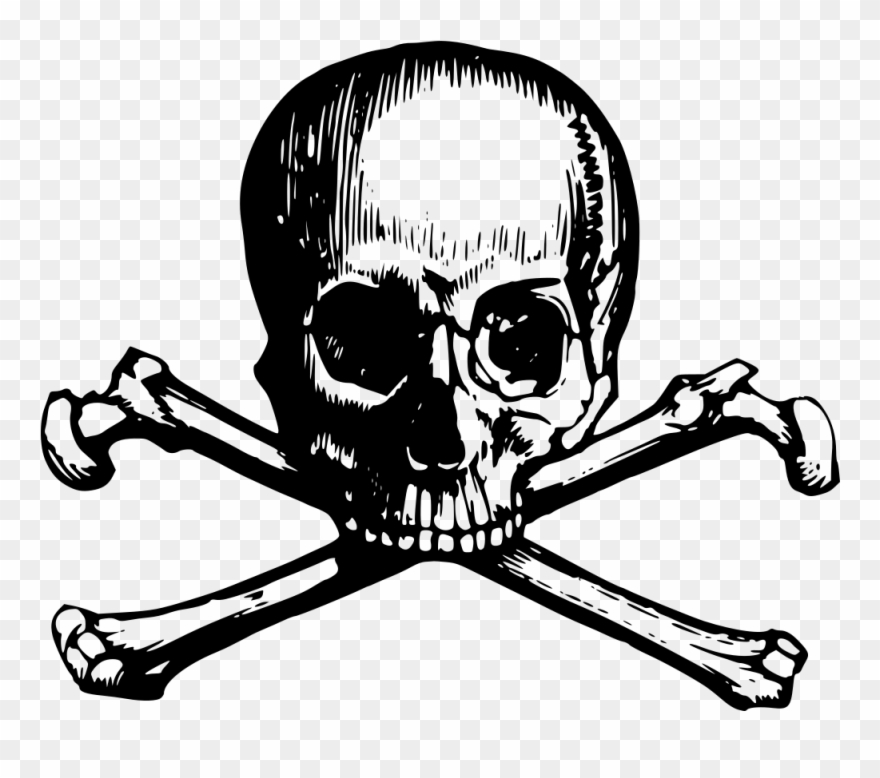 Skull face with guns clipart clip art black and white Skull And Crossbone Clipart Webweaver - Skull And Crossbones ... clip art black and white