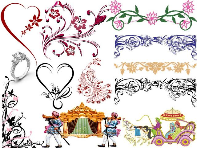 Wedding album design clipart jpg black and white stock Mixed Wedding Cliparts PNG 2018 Free Download   StudioPk in ... jpg black and white stock