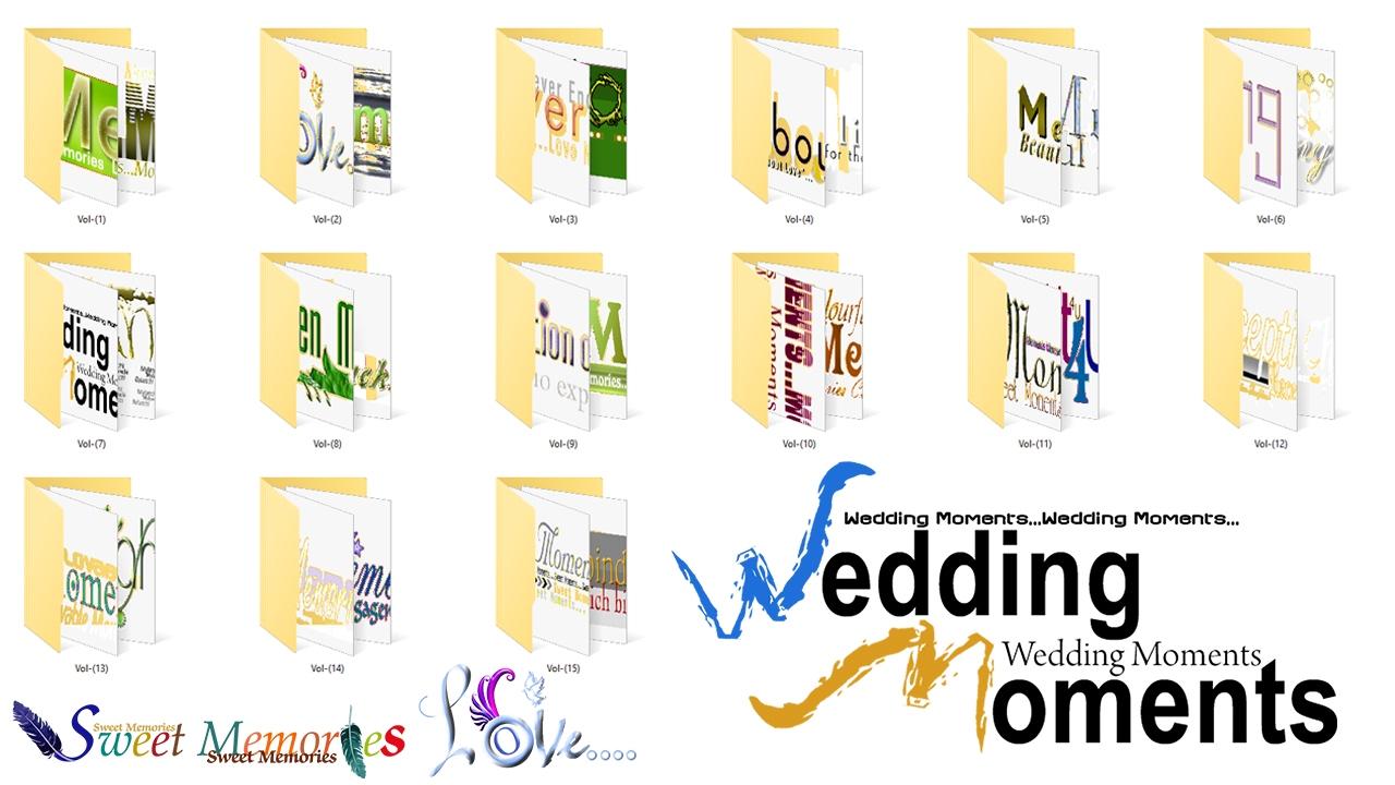 Wedding album design clipart jpg royalty free Free Download Letter Matter TEXT ClipArt 15 Vol Collection Pack For Album  Designing jpg royalty free