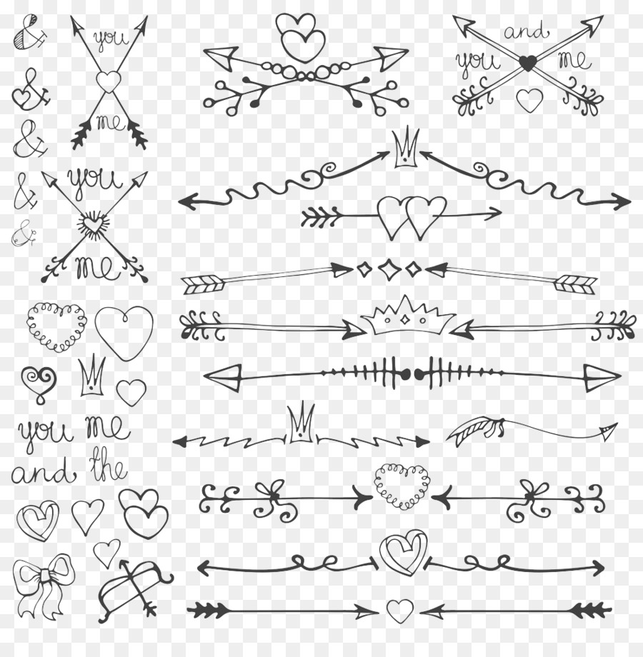 Wedding arrow clipart clip black and white library Wedding Invitation Text clipart - Wedding, Drawing, Arrow ... clip black and white library