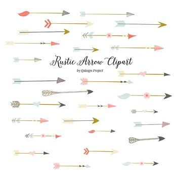 Wedding arrow clipart clip freeuse Rustic arrow clipart for scrapbooking, wedding invitation, clip freeuse