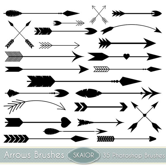 Wedding arrow clipart banner library stock Arrows Photoshop Brushes Vector Arrow PS Brushes Tribal ... banner library stock