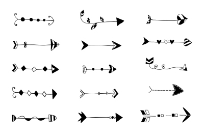 Wedding arrow clipart clip art black and white download Pravokrugulnik|196 Design Products|TheHungryJPEG.com clip art black and white download