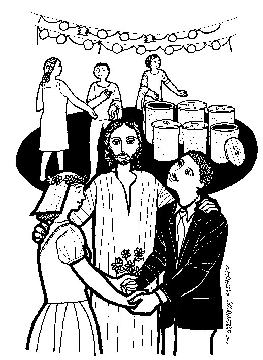 Wedding at cana clipart picture freeuse John 2:1-11 picture freeuse