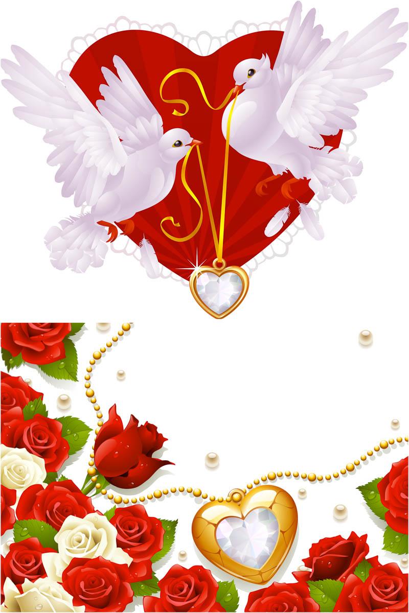 Wedding background design clipart vector download Wedding, Design, Illustration, Flower, Heart, Love, Art ... vector download
