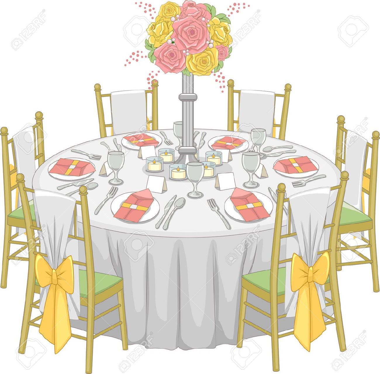 Wedding reception clipart picture transparent download Wedding Reception Table Clipart & Free Clip Art Images ... picture transparent download
