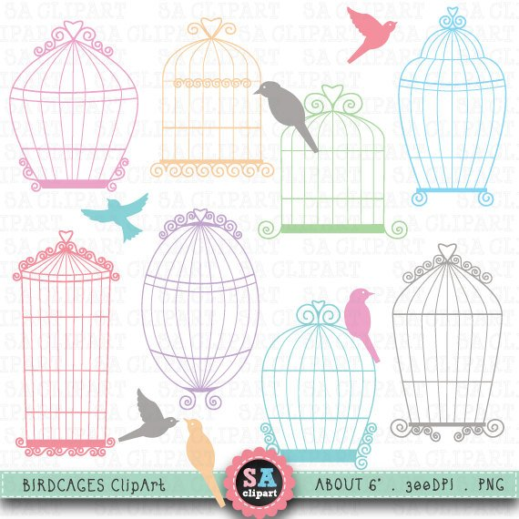 Wedding birdcage love clipart banner free library Birdcages clipart \