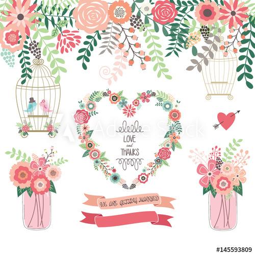 Wedding birdcage love clipart