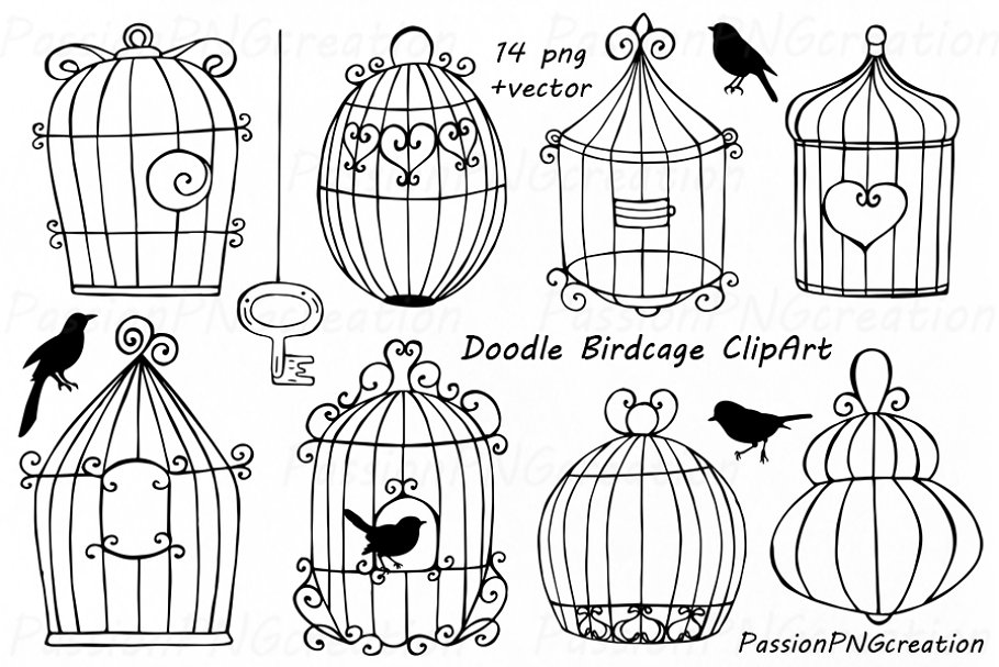 Wedding birdcage love clipart free library Doodle Birdcage ClipArt free library