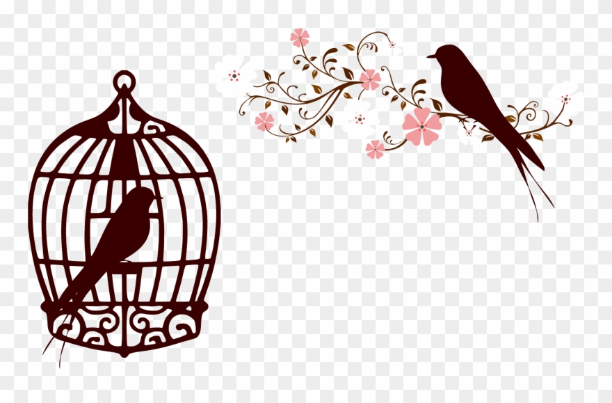 Wedding birdcage love clipart png library stock Clipart Wedding Bird - Bird In Cage Silhouette - Png ... png library stock
