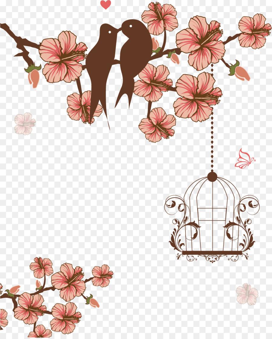 Wedding birdcage love clipart clipart transparent download Floral Wedding Invitation Background png download - 1166 ... clipart transparent download