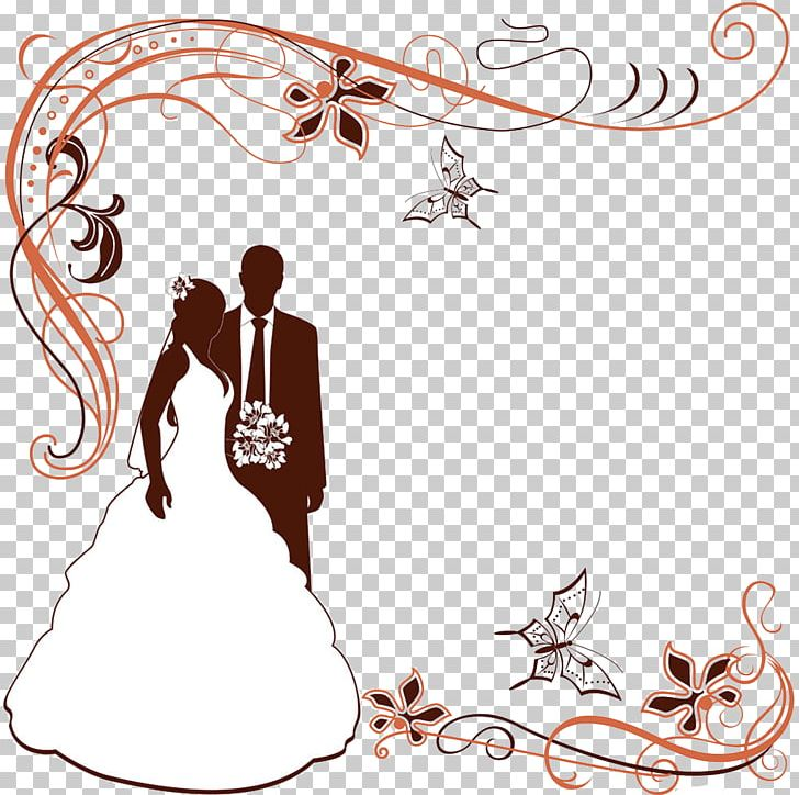 Wedding border clipart vector vector black and white stock Wedding Invitation PNG, Clipart, Border, Border Frame ... vector black and white stock