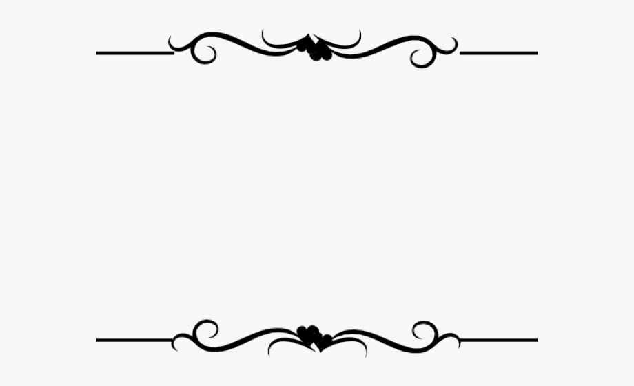 Wedding border line clipart clip black and white Wedding Clipart Boarder - Border Line Design Png #57042 ... clip black and white