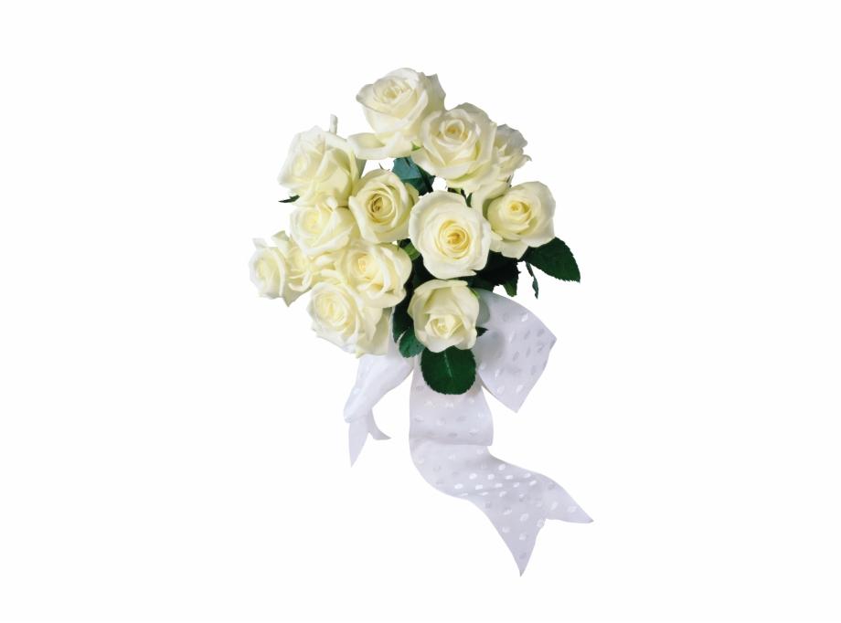 Wedding bouquet clipart transparent background clipart transparent library White Rose Bouquet - Wedding Flowers Transparent Background ... clipart transparent library