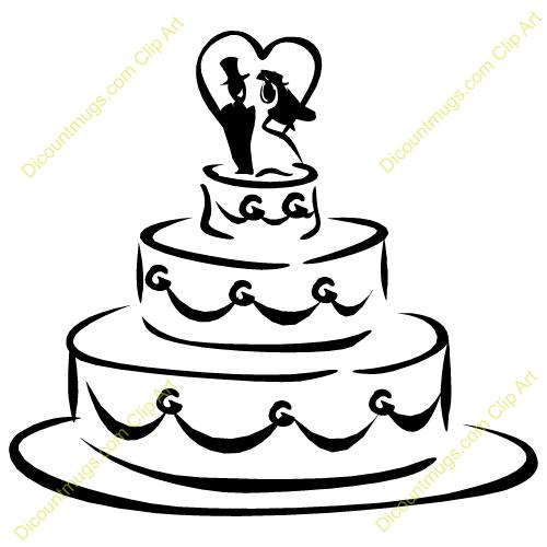 Wedding cake clipart free banner Wedding Shower Clip Art | Clipart 11938 Wedding cake ... banner