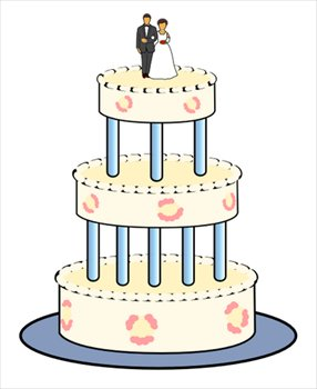 Wedding cake clipart free clip art black and white library Free wedding-cake Clipart - Free Clipart Graphics, Images ... clip art black and white library