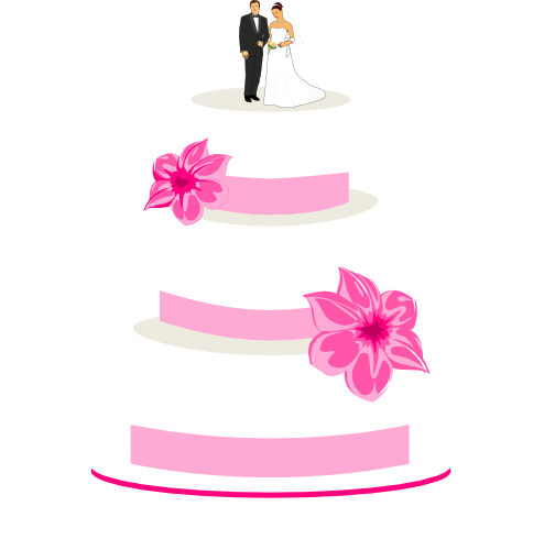 Wedding cake clipart free vector transparent download Wedding Cake Clipart - Free Graphics for Weddings vector transparent download