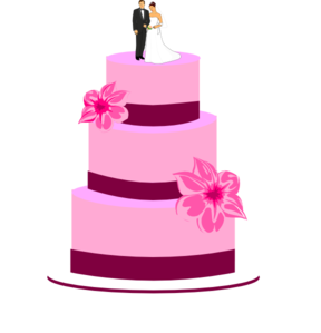 Wedding cake clipart free jpg library download Wedding Cake With Bride And Groom Clip Art at Clker.com ... jpg library download