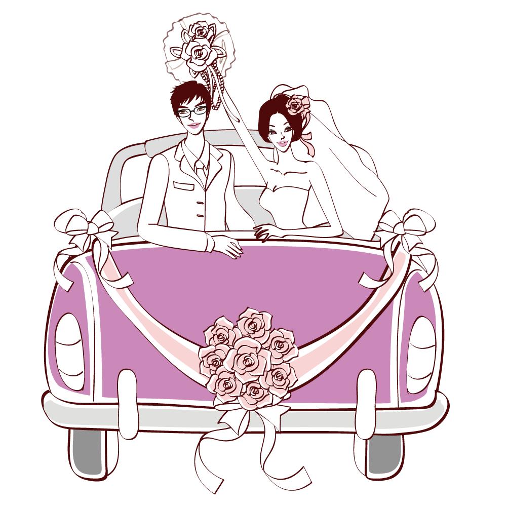 Wedding car clipart clip art free download Wedding invitation Marriage Clip art - Vector bride and groom ... clip art free download