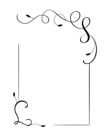 Wedding card border design vector clipart free Retro decorative hand drawn vintage vector frame and borders ... free