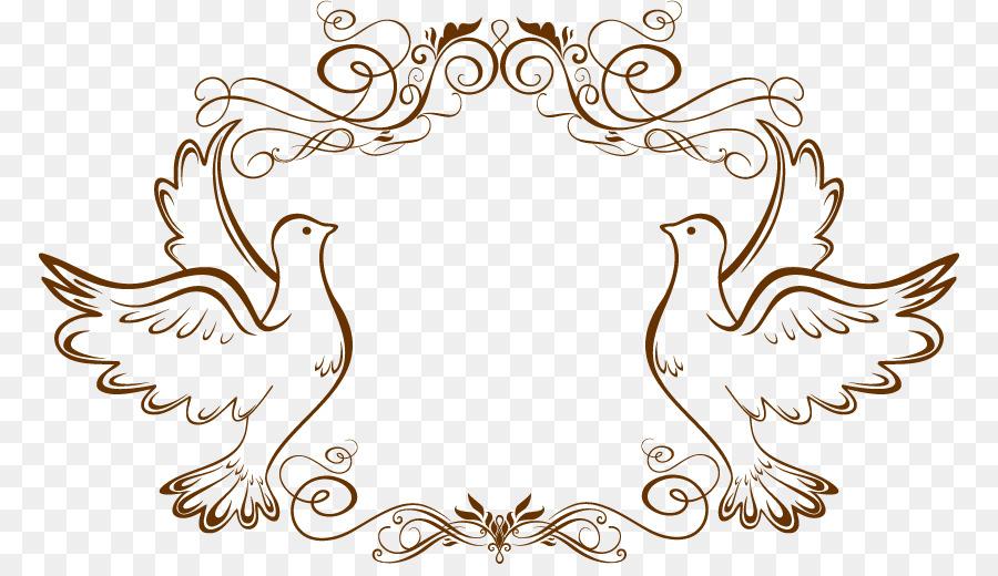 Wedding card frame clipart svg transparent library Wedding Invitation Frame png download - 830*509 - Free ... svg transparent library