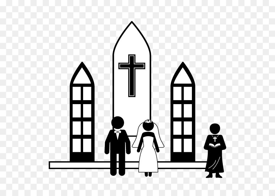 Wedding ceremony church clipart graphic library download Wedding Silhouette png download - 640*640 - Free Transparent ... graphic library download