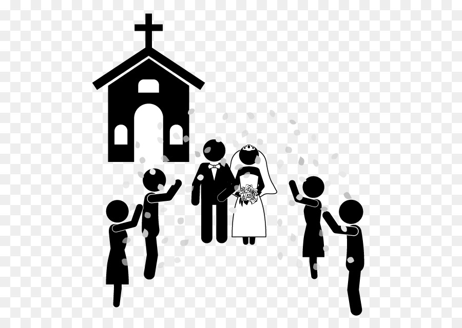 Wedding ceremony church clipart picture stock Wedding Silhouette clipart - Wedding, Marriage, Church ... picture stock
