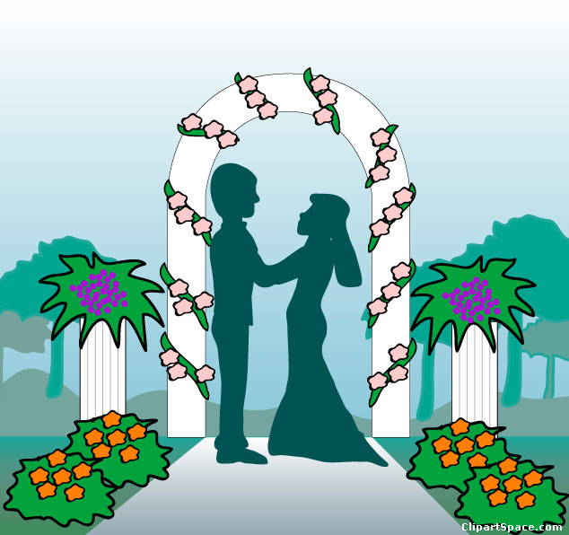 Wedding ceremony clipart picture black and white library Wedding ceremony clipart 9 » Clipart Station picture black and white library