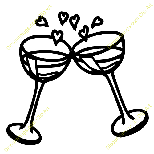 Wedding champagne glass clipart clip art black and white library Wedding Champagne Glasses Clipart | Wedding Craft Ideas ... clip art black and white library