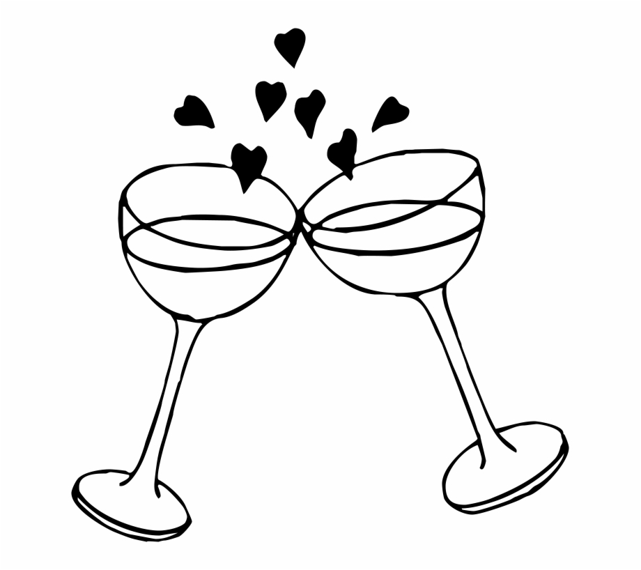 Wedding champagne glasses clipart clip stock Image Result For Toasting Glasses Icons Shower - Wedding ... clip stock