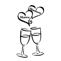 Wedding champagne glasses clipart vector transparent library Free Wedding Toasting Cliparts, Download Free Clip Art, Free ... vector transparent library