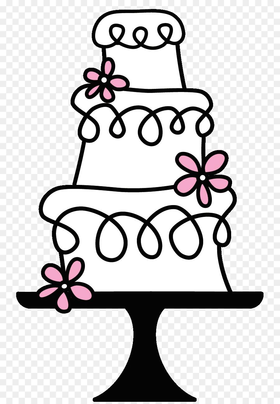 Wedding clipart cake banner black and white download Black And White Flower clipart - Cake, Wedding, Flower ... banner black and white download