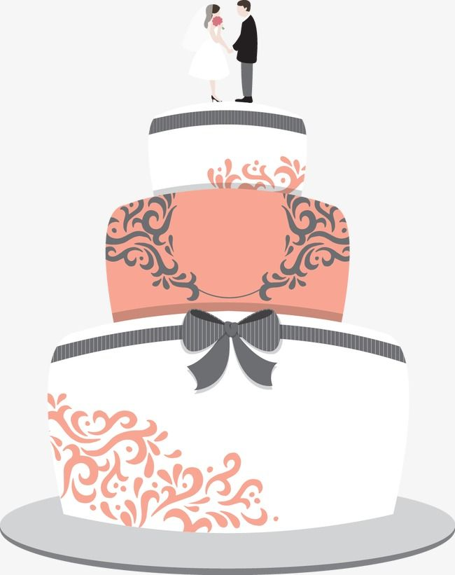 Wedding clipart cake vector black and white download Wedding Cakes, Marry, Wedding PNG and Vector with ... vector black and white download