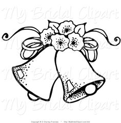 Wedding clipart coloring image black and white library wedding bells Wedding clipart pictures great free clipart ... image black and white library