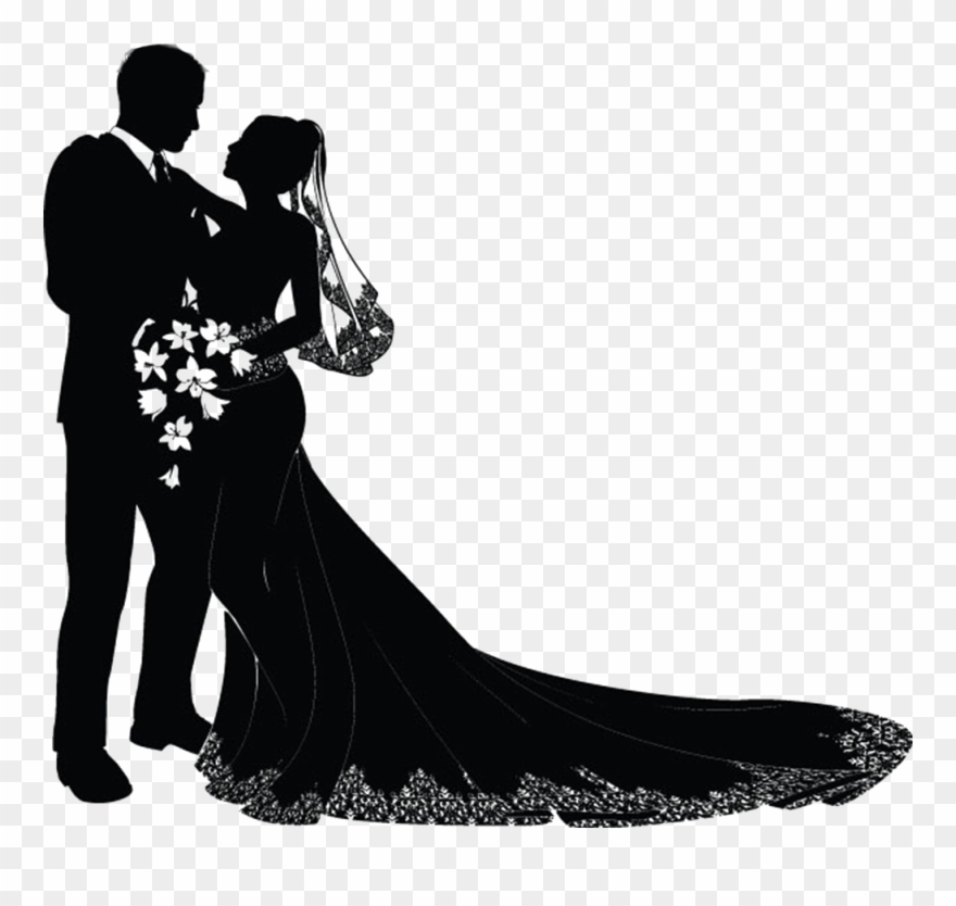 Married couple clipart svg picture library Wedding Invitation Bridegroom Clip Art - Wedding Couple ... picture library