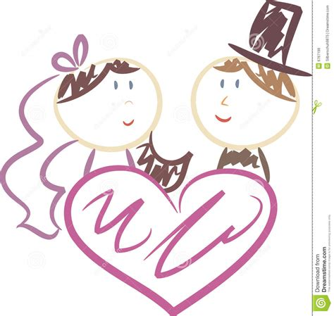 Wedding clipart cute svg free stock Wedding Clip Art - Falcones svg free stock