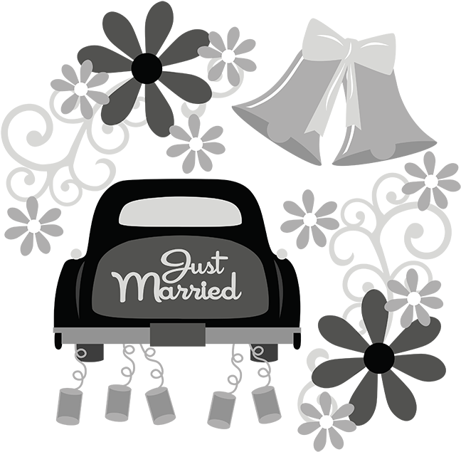 Wedding clipart file clip transparent Just Married SVG wedding svg file flower svg file wedding ... clip transparent