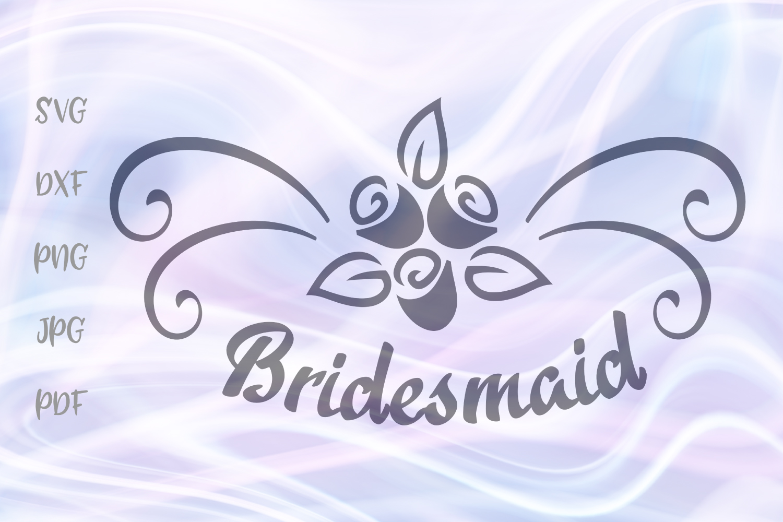 Wedding clipart file image royalty free download Bridesmaid Sign Wedding Clipart Bride Cut File SVG DXF PNG image royalty free download