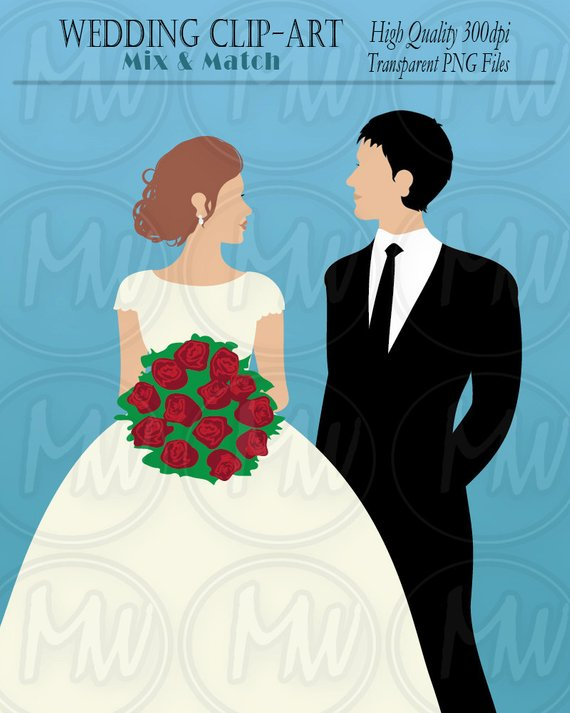 Wedding clipart groom and groom image freeuse library Wedding Clipart, Bride, Groom, Color Wedding Clip Art ... image freeuse library