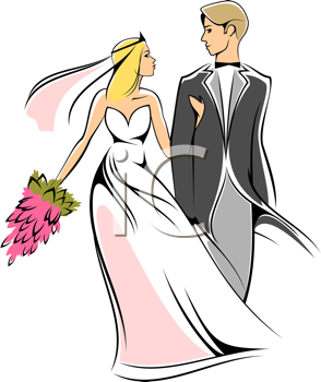Wedding clipart groom and groom picture library Wedding Clipart - Bride and Groom   Imagiwedding   Bride ... picture library