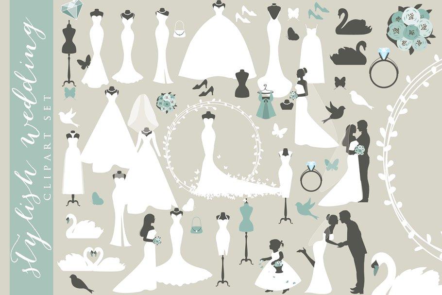 Wedding clipart groom and groom banner Wedding clipart bride clip art groom banner